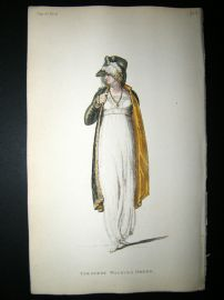 Ackermann 1809 Hand Col Regency Fashion Print. Tyrolese Walking Dress 2-37